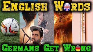ENGLISCHE WÖRTER, DIE DEUTSCHE FALSCH VERSTEHEN 🤔 Englische Erklärung zum Deutschlernen   VlogDave