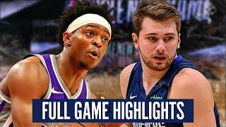 DALLS MAVERICKS vs SACRAMENTO KINGS - FULL GAME HIGHLIGHTS | 2019-20 NBA Season