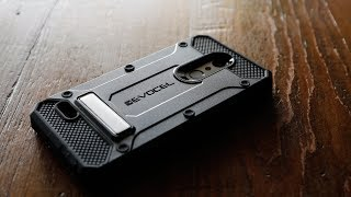 Evocel LG K30 Explorer Series Pro Case with Tempered Glass, Metal Kickstand, & Holster