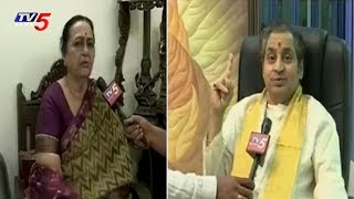 Sujatha Reddy & Madugula Nagaphani Sharma Face To Face Over Prapancha Telugu Mahasabhalu | TV5 News