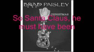 Brad Paisley-Santa looked a lot like daddy