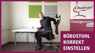 Korrekte Einstellung eines Bürostuhls ✔️ bequem & ohne Schmerzen sitzen!