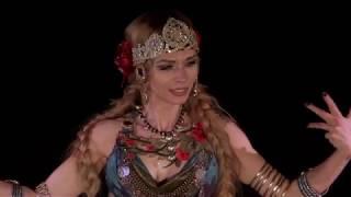 Indian Tribal Fusion. Танец Агапии Савицкой, выступления в разных местах Москвы в одном ролике. 2018