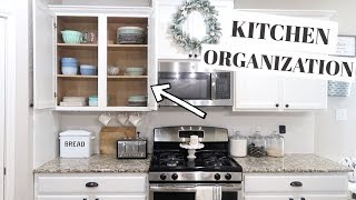 KITCHEN ORGANIZATION AND IDEAS 2019   DECLUTTER AND ORGANIZE WITH ME
