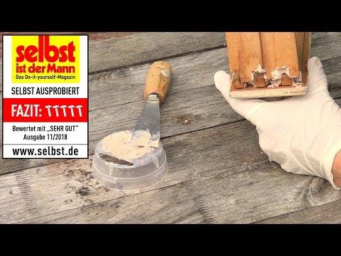 presto Holzspachtel - Reparatur im passenden Holz-Farbton