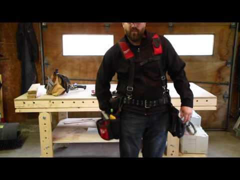 Critique de la Ceinture à outils Milwaukee pour charpentier (Milwaukee contractor tool belt review)
