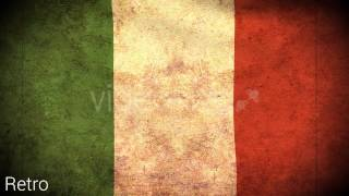 Italy Flag 2 Pack – Grunge and Retro