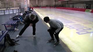 Speedskating lesson