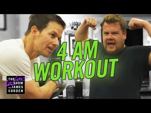 James Joins Mark Wahlberg's 4am Workout Club - YouTube