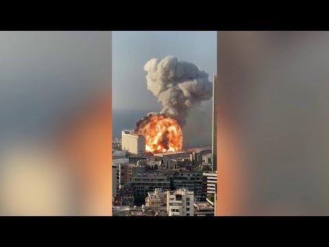 Esplosione nel porto di Beirut, le immagini dell'esplosione