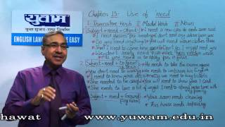 "Ch#15 Use of ""Need / need not"" - Man Singh Shekhawat-Yuwam"