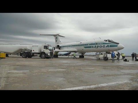 العرب اليوم - توبوليف 134 الأسطورية تقوم بآخر رحلة جوية لها