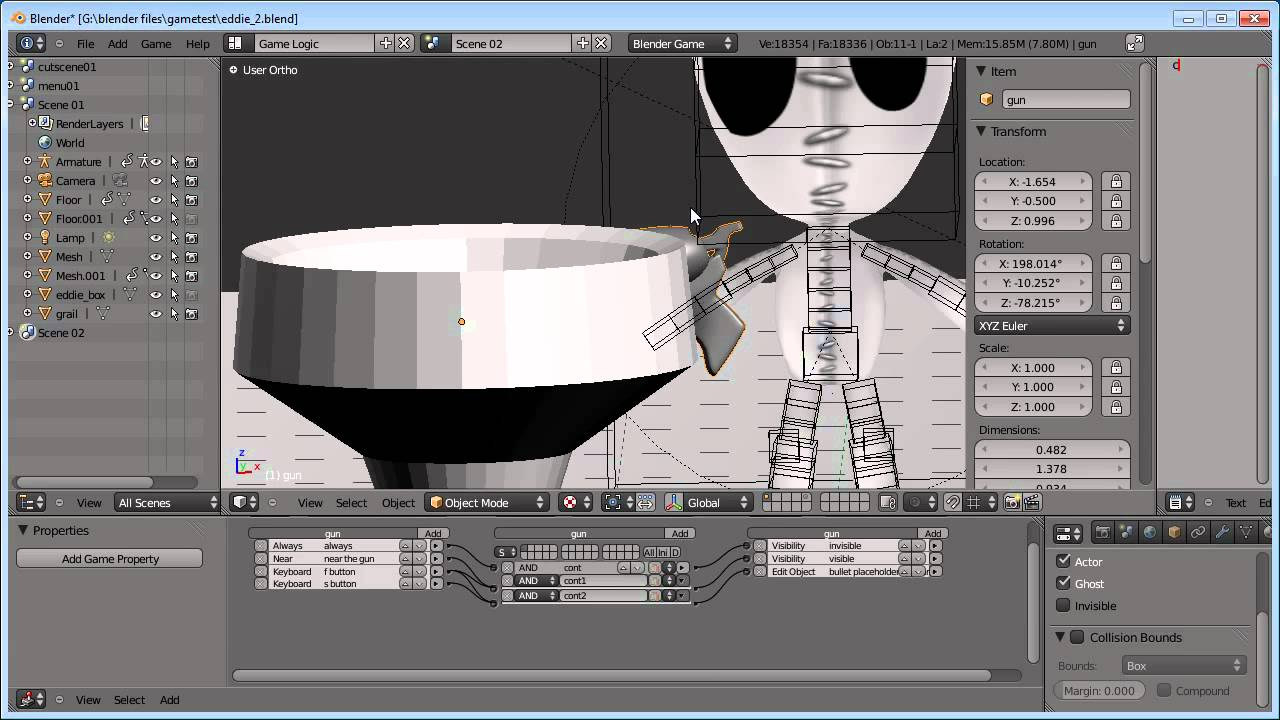 Blender Game Engine:Simple Character Part 03