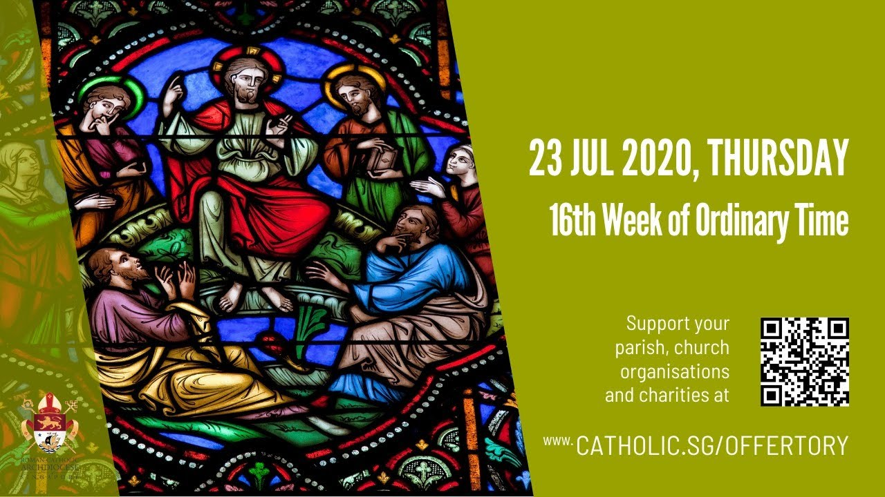 Catholic Live Weekday Mass 23rd July 2020 Thursday - Live From Archdiocese of Singapore