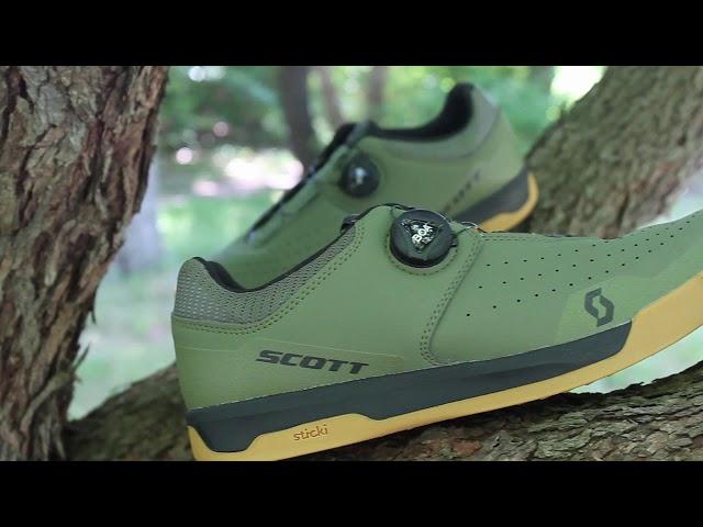 Видео Велотуфли Scott Sport Volt (Green Moss/Black)