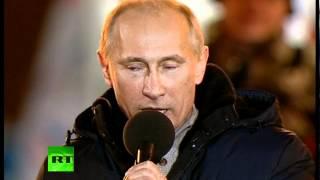 """""""Мы победили!"""" Путин со слезами на глазах на Манежной"""