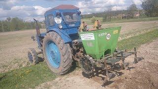 Посадка картошки Трактором Т40