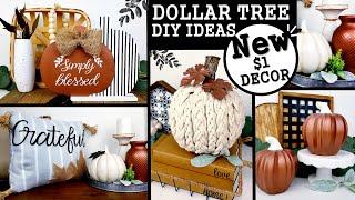 $1 HIGH END FALL DIYS   DOLLAR TREE FALL DIYS   MODERN FARMHOUSE DECOR IDEAS