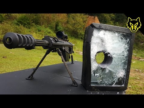 Will Bulletproof Glass Stop A .50 Cal? slow motion Richard Ryan