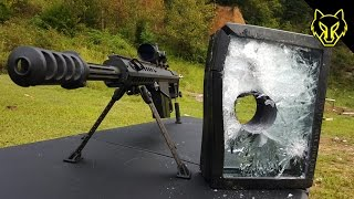 Will Bulletproof Glass Stop A .50 Cal? slow motion