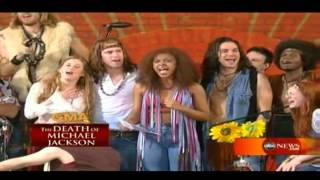 Sasha Allen with the cast of 'Hair' Tribute To Michael Jackson  - I'll Be There (2009)