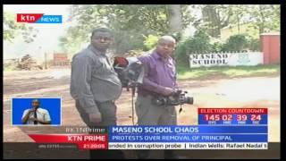 Maseno school students stone journalists claiming media misreporting soiled school's name
