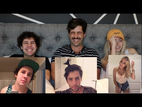 REACTING TO OUR CRINGIEST PHOTOS ft DAVID DOBRIK AND CORINNA KOPF! (видео)