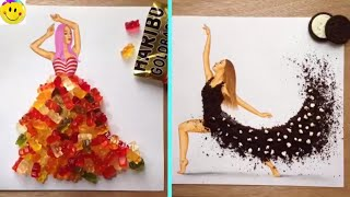Armenian Fashion Illustrator Creates Stunning Dresses From Everyday Objects (Part 3)