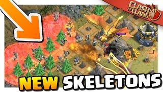 Taking On The Dragon's Lair With New Guards Skeleton Spell In Clash Of Clans!