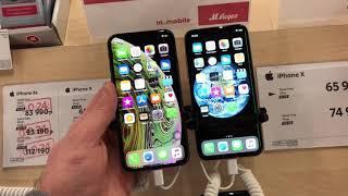 В М.Видео демонстрационный iPhone X с КИТАЙСКИМ дисплеем + ЗЕЛЕНАЯ ПОЛОСА