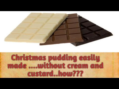 Chocolate truffle pudding/Christmas pudding