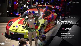 JOT381 GRAN TURISMO SPORT 180618 DRAGON TRAIL PORSCHE RSR 1st to 1st FASTEST LAP 10 LAPS 529th WIN