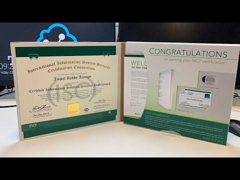 ISC2 CISSP certificate unboxing - YouTube