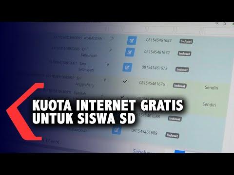 sdn pontianak barat bagikan kuota internet gratis untuk siswa belajar online