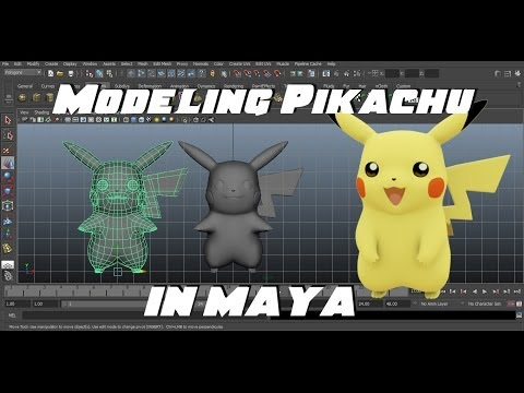 Modeling Pikachu in Maya (Part 1 of 3)