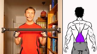 Fitness-Hack   An Klimmzugstange unteren Rücken trainieren - Zuhause Rückentrainer selber bauen