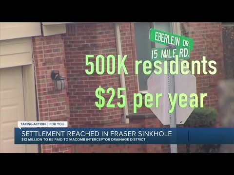 Macomb County announces $12.5 million in Fraser sinkhole case that displaced homeowners