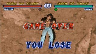Tekken 2: All Lose Poses - All Characters ( K.O )