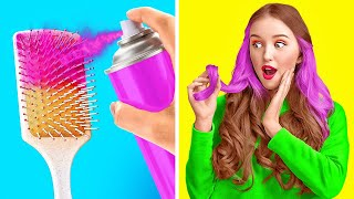 COOL HAIR IDEAS AND HACKS    Awesome Girly Tips To Look Gorgeous In Any Situation