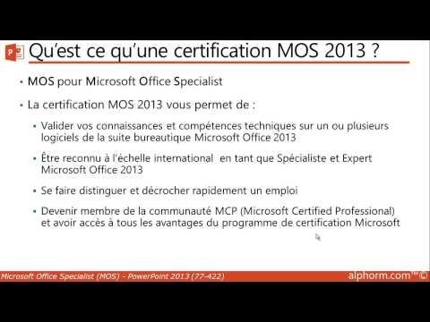 alphorm.com   Formation MOS PowerPoint 2013 77-422 ... - YouTube
