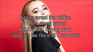 Sabrina Carpenter   Smoke And Fire (Lyrics)