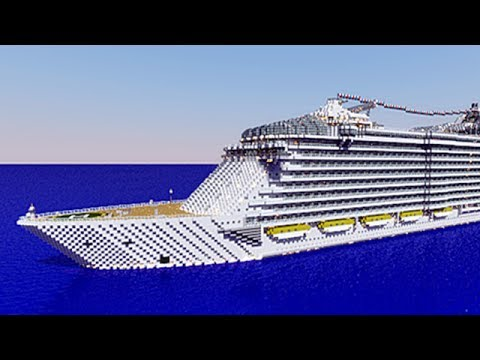 Oasis Of The Seas Cruise Ship Cruise Liner Minecraft Project - Oasis of the sea cruise ship