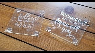 Easy Etching On Glass Coasters Tutorial