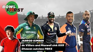 de Villiers and Maxwell sink KKR. Dhawan outclass PBKS | RCB vs KKR & DC vs PBKS review | Bowl First