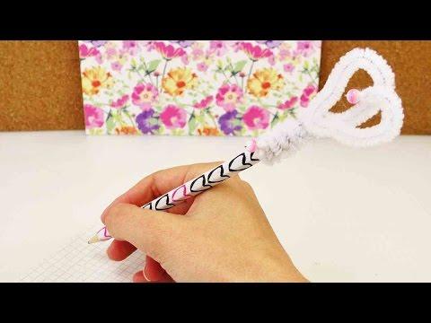DIY School Supplies Aufsatz für Stifte | Stiftdeko aus Pfeifenreiniger & Perlen | Back to School