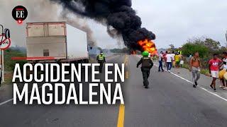 Asciende a 21 el número de fallecidos por explosión de camión cisterna en Tasajera