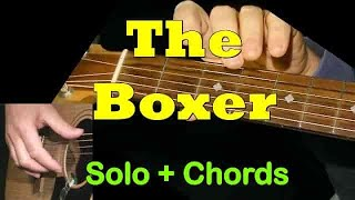 THE BOXER: Easy Guitar Lesson + CHORDS + TAB by GuitarNick