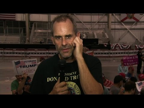 Trump supporter: I salute a cardboard Trump every day