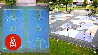 Turning Basketball Courts Into Works of Art