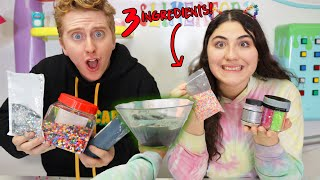 MAKE THIS SLIME PRETTY WITH ONLY 3 INGREDIENTS CHALLENGE! Slimeatory #624